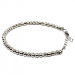 Bracelet with stainless steel spheres