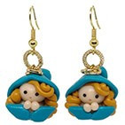 Polymeric pearl earrings, fimo | ParticolarModa | Free shipping
